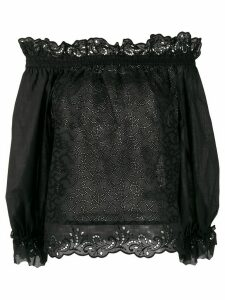 Ermanno Scervino cut-out paisley blouse - Black