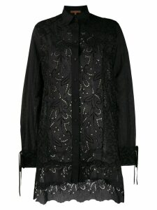 Ermanno Scervino cut-out paisley shirt - Black