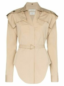 Bottega Veneta belted stretch shirt - NEUTRALS