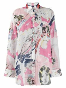 Ermanno Scervino digital print shirt - White