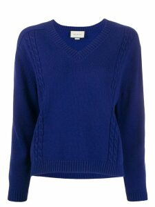 Gucci ribbed v-neck jumper - Blue