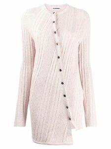 Jil Sander asymmetric longline cardigan - PINK