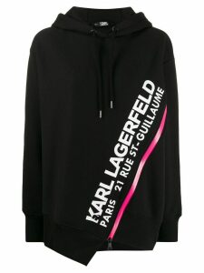 Karl Lagerfeld Rue St-Guillaume zipped hoodie - Black
