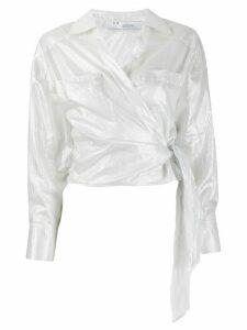 IRO long-sleeve wrap blouse - White