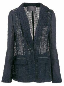 Lorena Antoniazzi crocheted fitted jacket - Blue