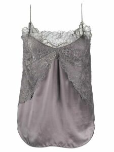 IRO lace-embroidered camisole top - Grey