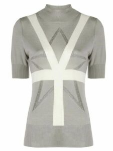 Lorena Antoniazzi short-sleeve knit top - Grey