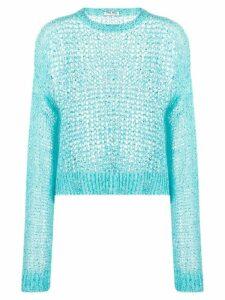 Miu Miu loose weave jumper - Blue
