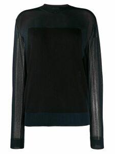 Nina Ricci sheer long sleeve top - Blue