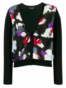 Emporio Armani abstract print cardigan - Black