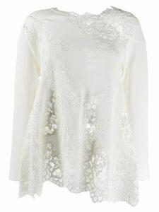 Ermanno Scervino lace insert jumper - White