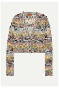 Missoni - Cropped Crochet-knit Cardigan - Purple