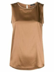 Peserico bead-collar silk top - Brown