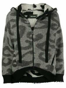Zadig & Voltaire Lennox leopard-knit cardigan - Black