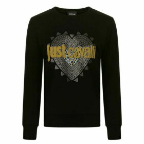 Just Cavalli Studded Heart Logo Sweatshirt