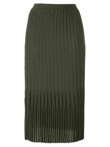 Dion Lee Godet pleated midi skirt - Green