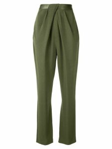 Dion Lee drape detail trousers - Green