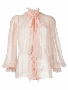 Dolce & Gabbana ruffle trim blouse - PINK