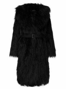 Goen.J Oversized faux fur coat - Black