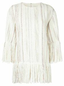 Goen.J tweed top - White