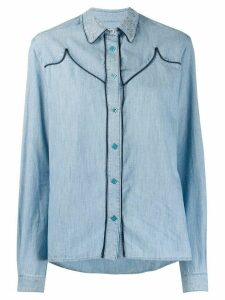 Golden Goose contrast seam shirt - Blue