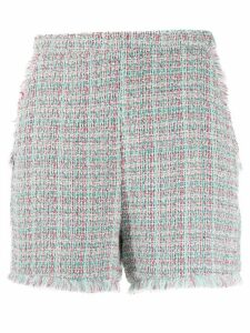 Pinko raw edge bouclé shorts - Green