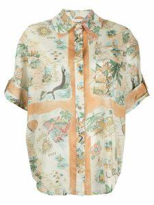 Zimmermann Queensland print shirt - NEUTRALS