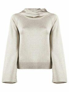 Missoni fine knit metallic hoodie - Brown