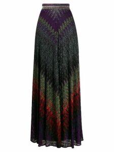 Missoni embroidered maxi skirt - PURPLE