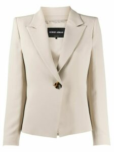 Giorgio Armani single breasted blazer - NEUTRALS