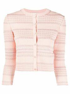 Alexander McQueen knitted cardigan - PINK