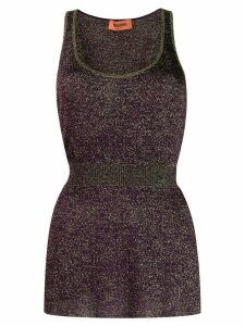 Missoni glitter-effect tank top - PURPLE