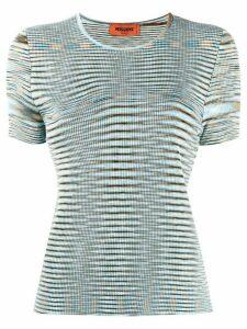 Missoni abstract knit jumper - Blue