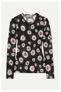 Molly Goddard - Freddie Floral-print Mesh Top - Black