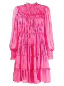 Ulla Johnson gathered tiered dress - PINK