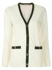 Tory Burch Color-Block Madeline Cardigan - White
