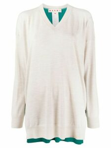 Marni contrasting back panel jumper - Green