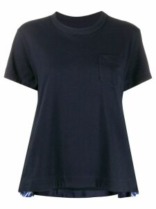 Sacai pleated sides T-shirt - Blue
