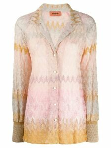 Missoni zig-zag gradient knit shirt - NEUTRALS