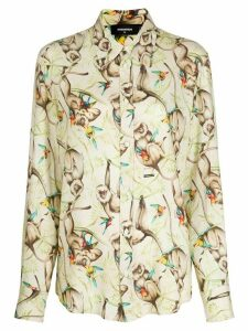 Dsquared2 Monkey motif shirt - NEUTRALS