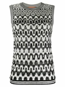 Missoni geometric knit jumper - Black
