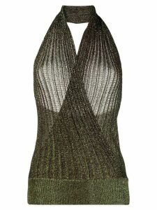 Missoni halter-neck knitted top - Green