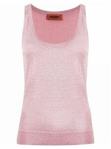 Missoni metallic weave vest top - PINK