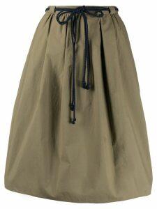 Odeeh drawstring waist skirt - Green