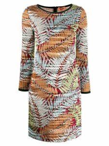 Missoni foliage-print short dress - Blue