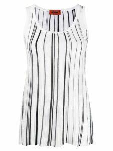 Missoni striped-print vest top - White