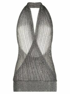 Missoni glitter effect halter-neck top - SILVER