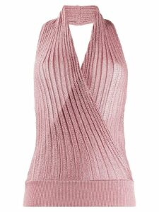 Missoni knitted wrap halter top - PINK
