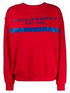 Philosophy Di Lorenzo Serafini logo print button detail sweatshirt -