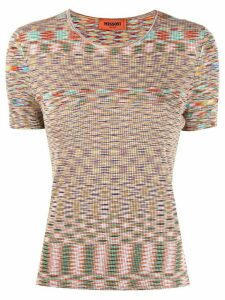 Missoni ribbed knit top - PINK